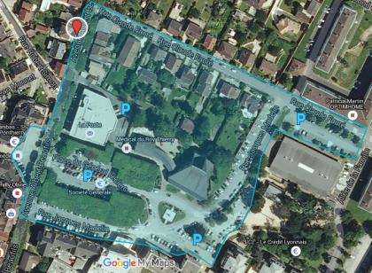 Carte des Parkings à proximité de l'Agence de Voyages